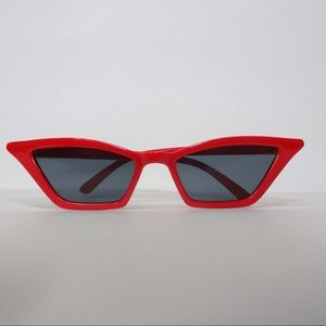 Red Small Frame Sunglasses